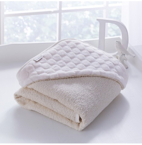 Clair De Lune Luxury Hooded Towel - Marshmallow Cream
